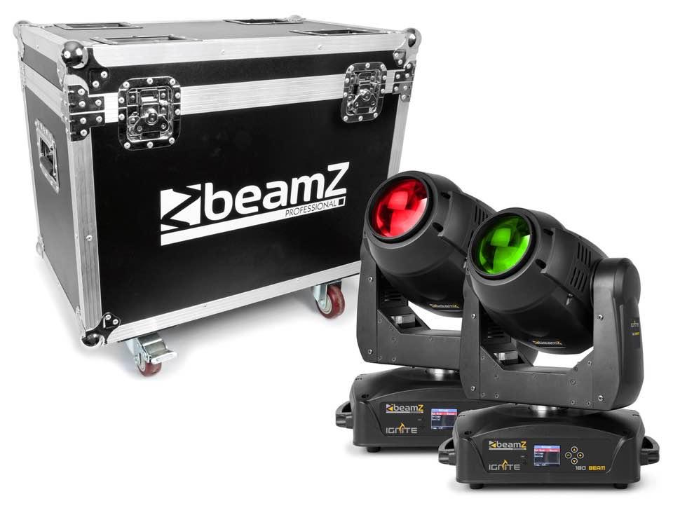 BEAMZ IGNITE180B TESTA MOBILE LED BEAM 2 PEZZI CON FLIGHTCASE