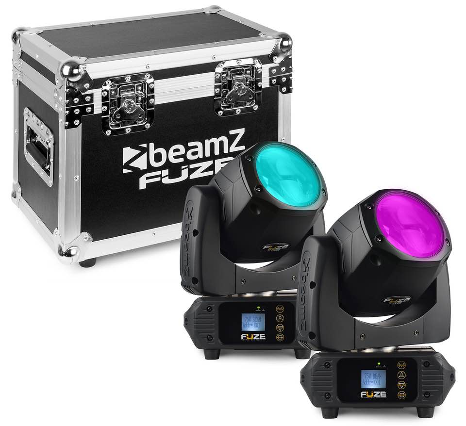 BEAMZ FUZE75B TESTA MABILE BEAM 75W LED SET 2PZ CON FLIGHTCASE