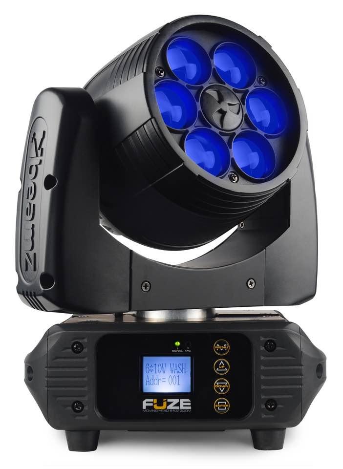 BEAMZ FUZE610Z TESTA MOBILE WASH 6X 10W LED ZOOM