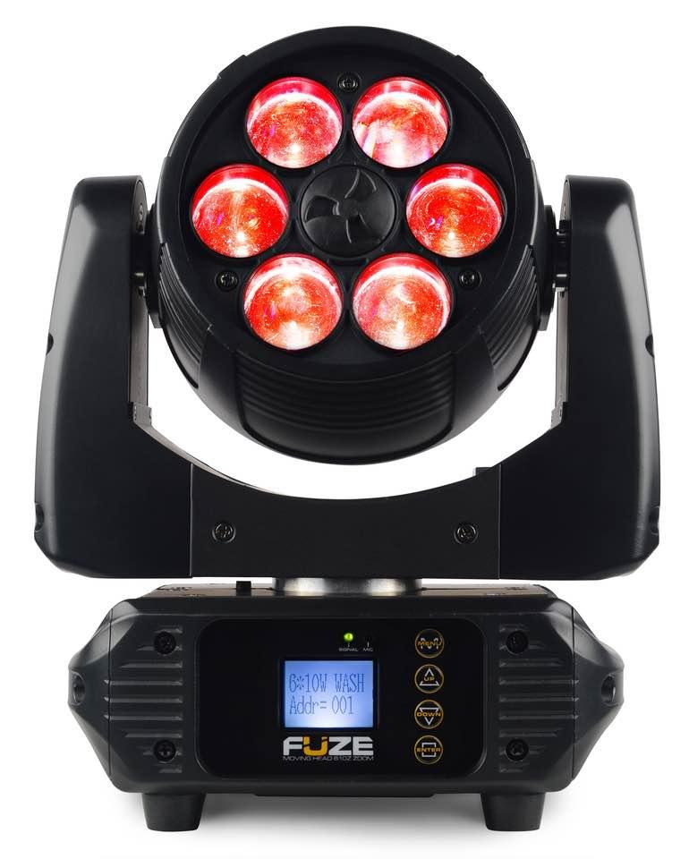 BEAMZ FUZE610Z WASH LED 6X10W RGBW ZOOM