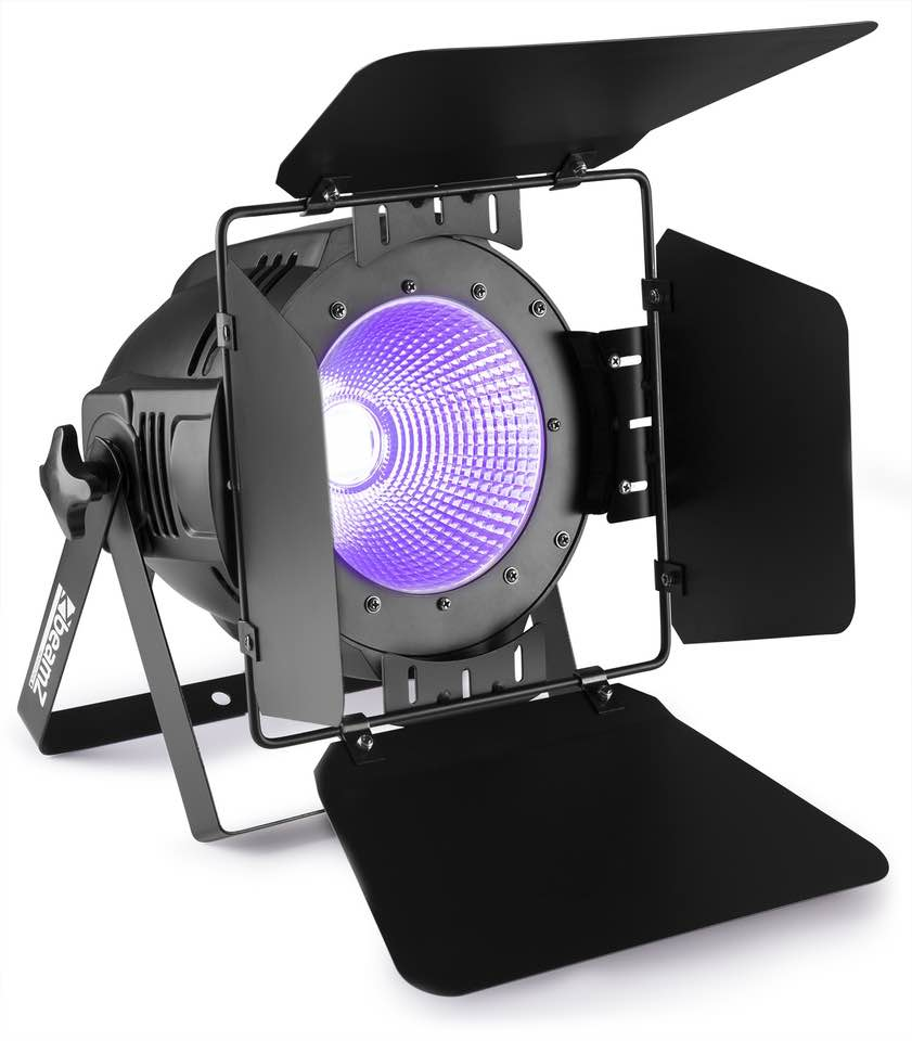 BEAMZ COB100UV PAR LIGHT DMX 100W UV+BARNDOOR