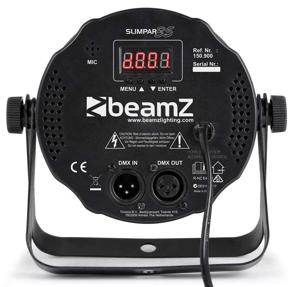 BEAMZ SLIMPAR35 12 X 3W 3IN1 RGB DMX