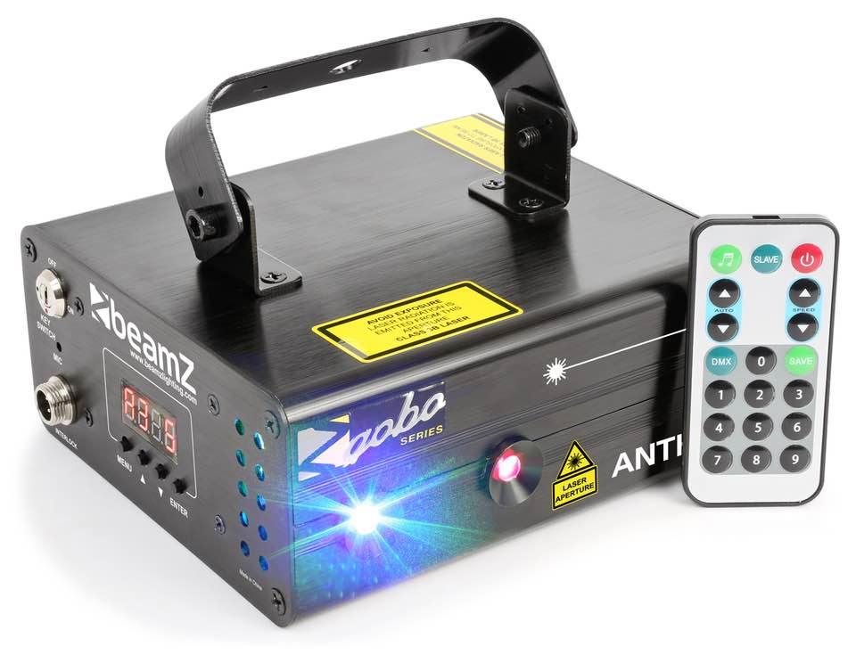 BEAMZ ANTHE II DOPPIO LASER 600MW RGB GOBO DMX IRC