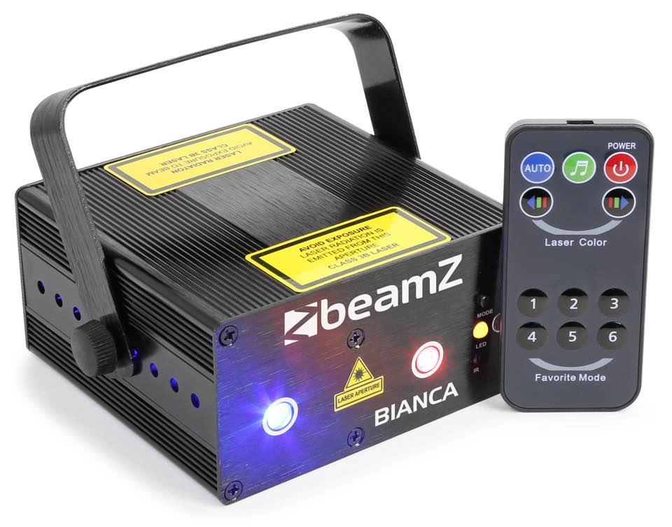 BEAMZ BIANCA DOPPIO LASER 330MW RGB GOBO IRC