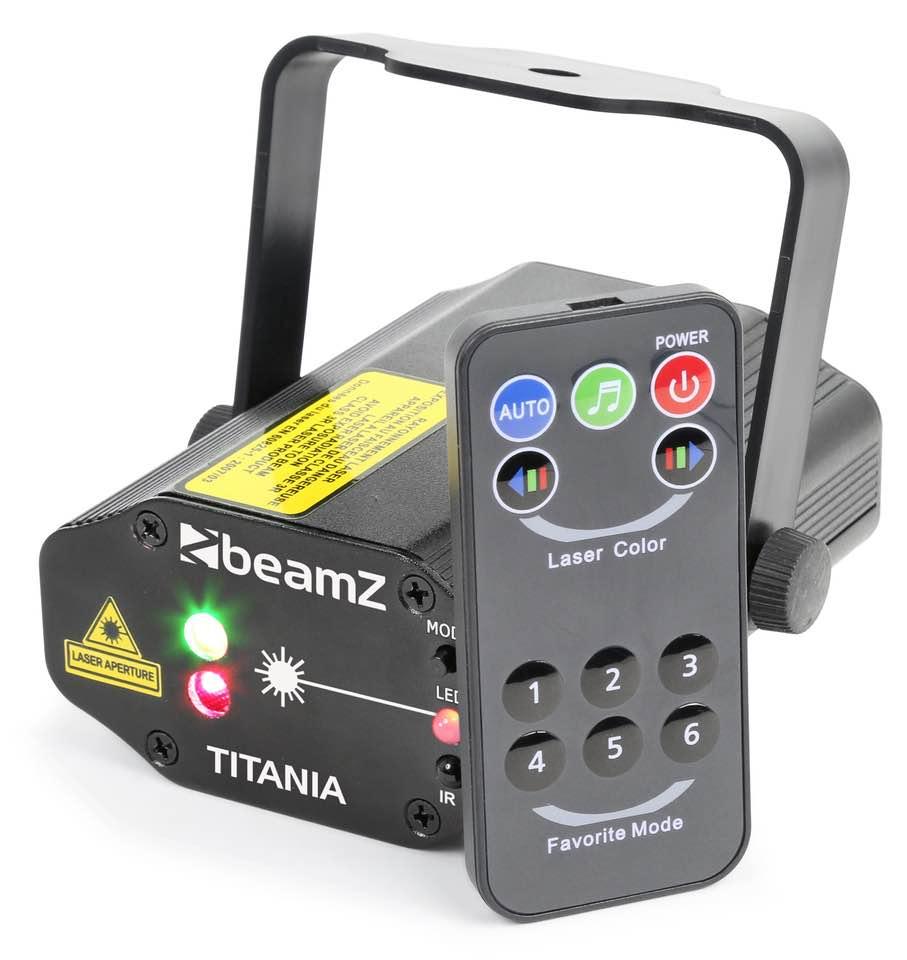BEAMZ TITANIA DOPPIO LASER 200MW RG GOBO IRC