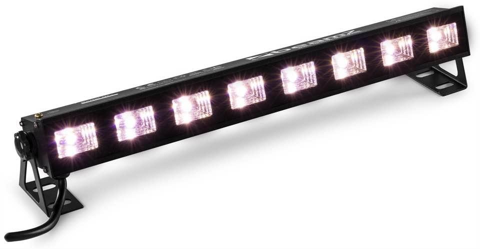 BEAMZ BUVW83 LED BAR 8X3W UV/WW 2IN1