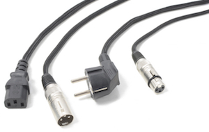 POWER DYNAMICS CONNEX CX02-10 AUDIO COMBI CABLE SCHUKO - XLR F / IEC F - XLR M 10M