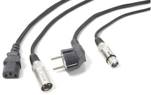 POWER DYNAMICS CONNEX CX02-15 AUDIO COMBI CABLE SCHUKO - XLR F / IEC F - XLR M 15M