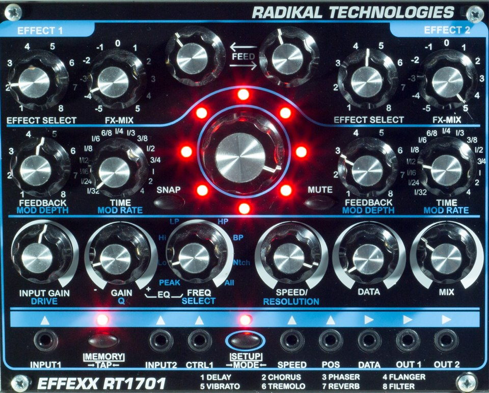 RADIKAL TECHNOLOGIES RT-1701 EFFEXX MULTIFX PROCESSOR